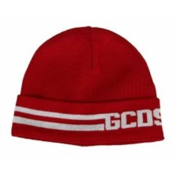 ジーシーディーエス 帽子 ハット キャップ メンズ【GCDS Logo Beanie】Red