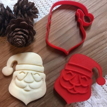 クリスマス☆サンタクロース☆ クッキー型・クッキーカッター