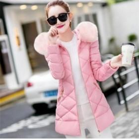 ロングコート レディース 大きいサイズ 冬服 防寒 中綿コート アウター 軽量