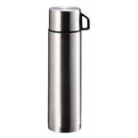 水筒 コップ付 ダブル ステンレス ボトル スタイルベーシック[H-6828](シルバー, 1000ml)