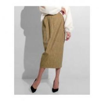 【Settimissimo】 ウール混ネップミディ丈スカート