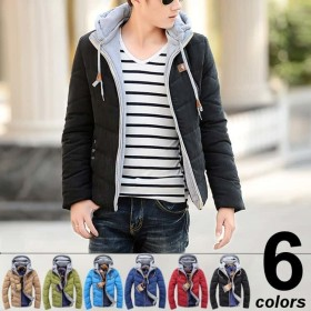 中綿 フード付 ジャケット [6色] 防寒 アウター #T957