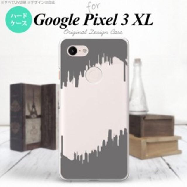 Google Pixel 3 XL ピクセル 3 XL 専用 スマホケース ハードケース イラストデザイン(B) グレー nk-px3x-195