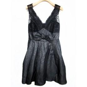 【中古】コウベバレット kobebullet ワンピース ドレス ノースリーブ ミニ 1 黒 /YY レディース
