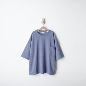 軽量ポケット5袖トップ - ツイストブルー