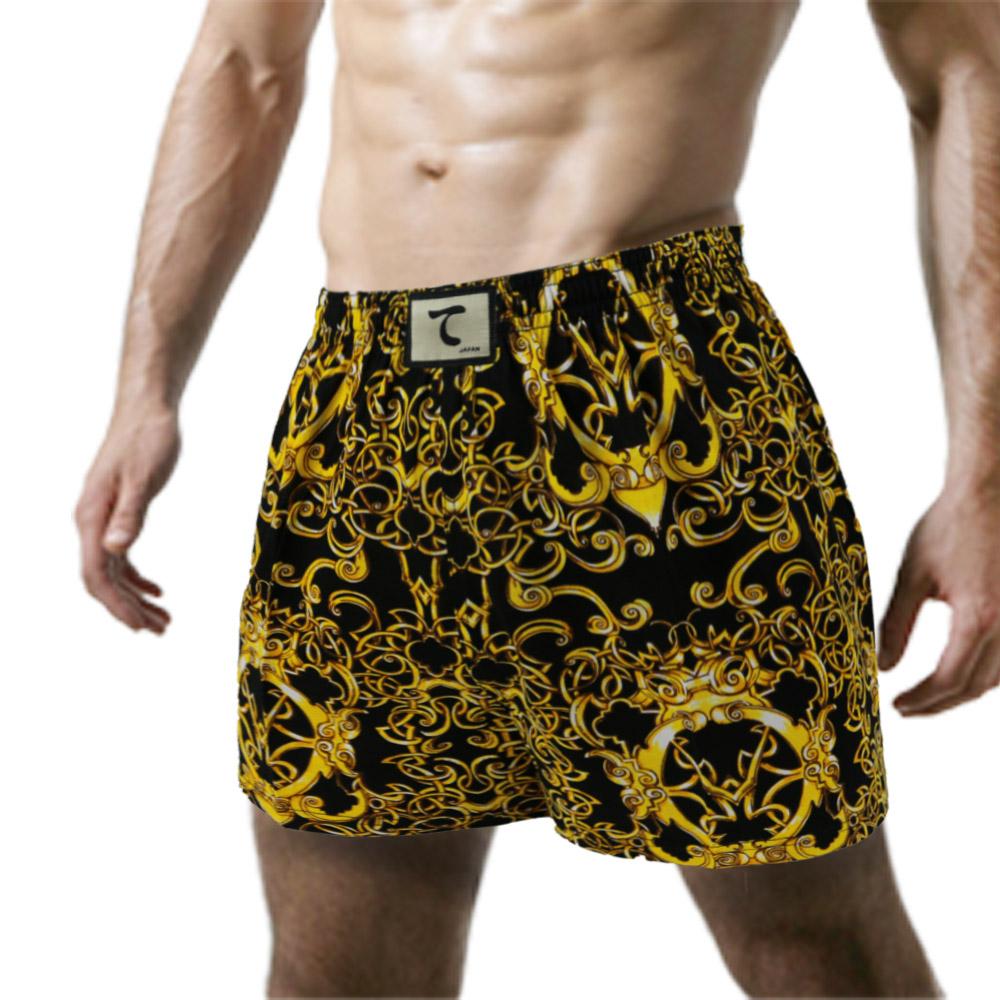 【天皇】舒適悠閒-富貴榮華平口褲-黃色