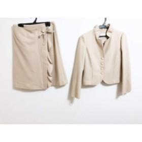 トゥービーシック TO BE CHIC スカートスーツ サイズ40 M レディース ベージュ【中古】
