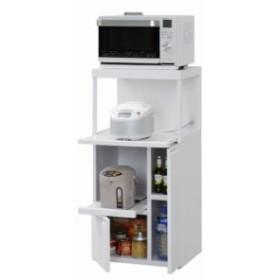 レンジ台(ファインキッチン) SK-307W 送料無料 キッチンラック ラック 棚 米びつ 収納 キッチ