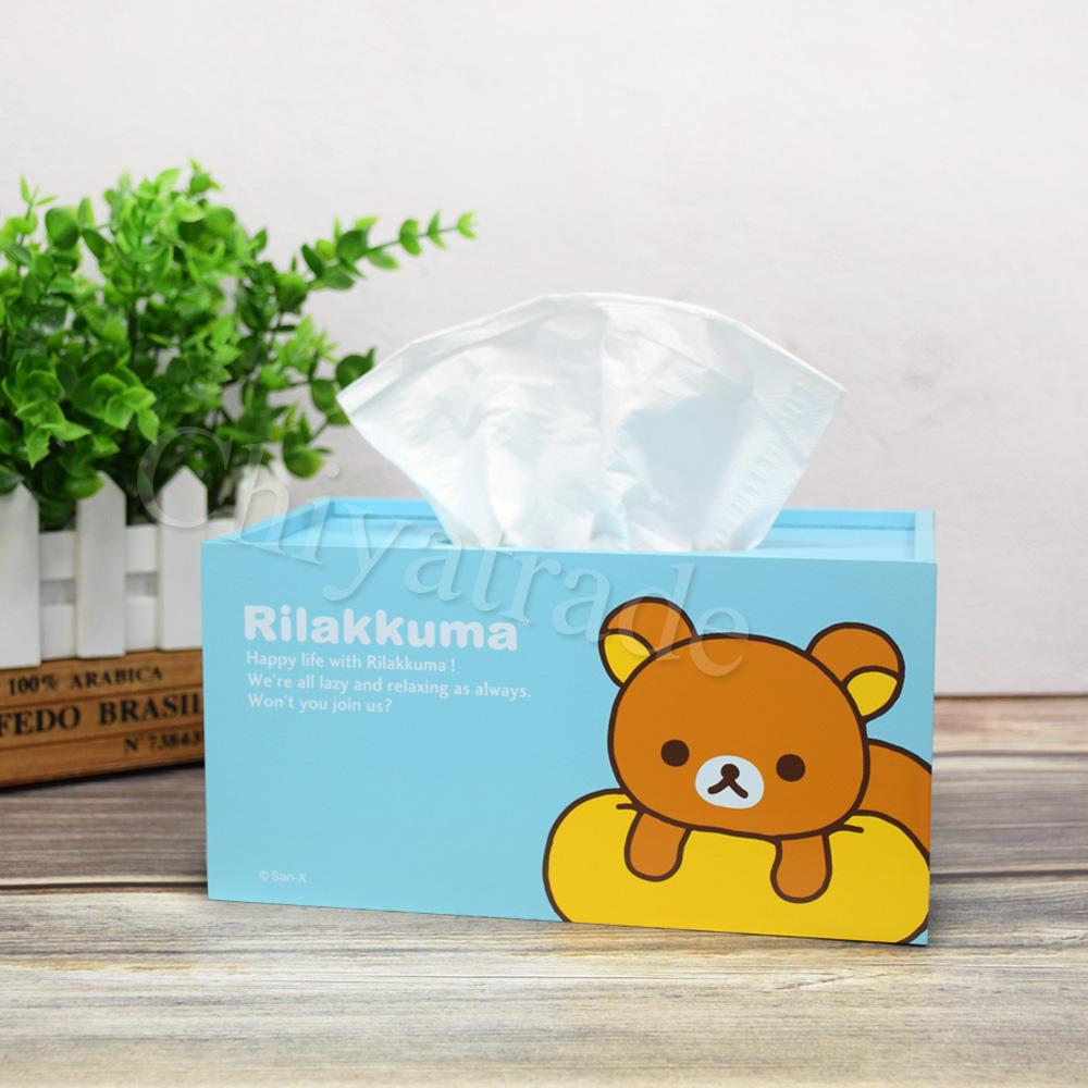 【Rilakkuma】拉拉熊 懶懶熊超萌抽拉式 面紙盒 衛生紙盒-放空中-天藍