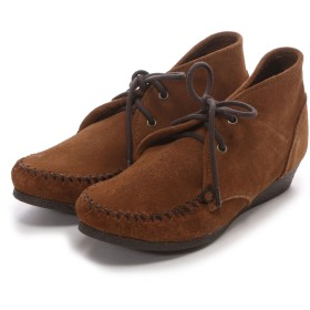 ミネトンカ MINNE TONKA CHUKKA WEDGE BOOTIE(Dusty Brown)