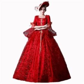 王族服 ヨーロッパ風 プリンセスライン 王族服 演出服 撮影 貴族 ドレス お姫様 衣装 ロング 宮廷 現代演劇服装 ステージ衣装 舞台衣装