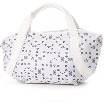 サボイ SAVOY ジャガード織・サボイロゴ柄のバッグ (ホワイト)
