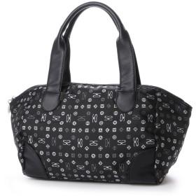 サボイ SAVOY ジャガード織・サボイロゴ柄のバッグ (ブラック)
