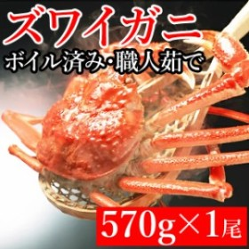 ギフト ロシア産 ズワイガニ 1尾 570g×1尾 / 海鮮 ずわいがに 姿 ボイル 冷凍 キロ 直送 蟹 カニ 内祝い