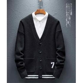 秋冬新作メンズカーディガン セーター トップス シンプル おしゃれ♪全4色