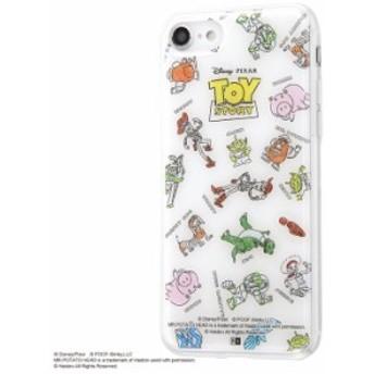 iPhone8 iPhone7 ケース トイストーリー TPUケース+背面パネル トイ・ストーリー /総柄