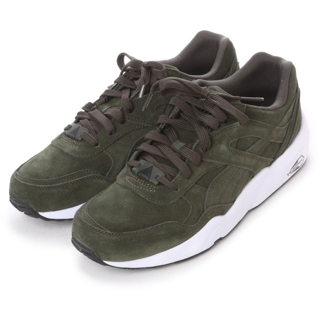 プーマ PUMA atomos R698 ALLOVER SUEDE (FOREST NIGHT-WHITE)