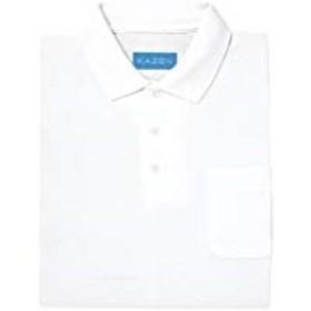 介護ユニフォーム ポロシャツ半袖 KAZEN ホワイト サイズ:LL 237-20