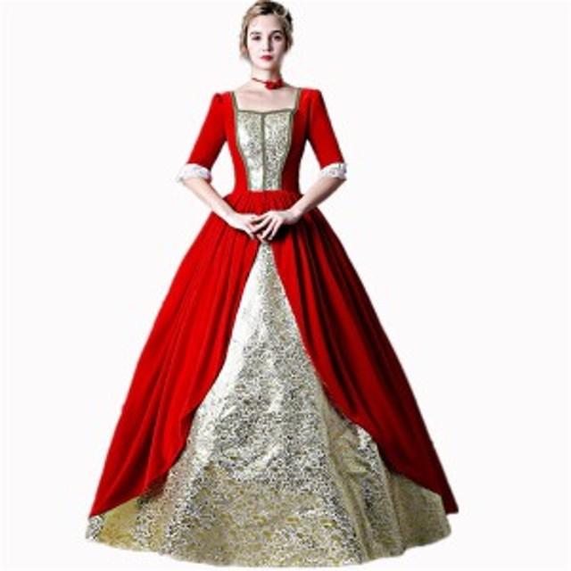cca0452359cac 王族服 ヨーロッパ風 プリンセスライン 王族服 演出服 撮影 貴族 ドレス お姫様 衣装 ロング