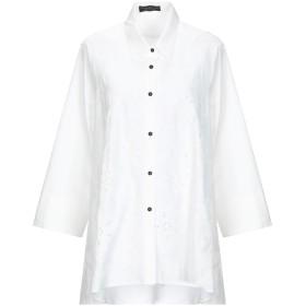 《期間限定 セール開催中》STEFANIA CARRERA レディース シャツ ホワイト 44 コットン 95% / ポリウレタン 5%