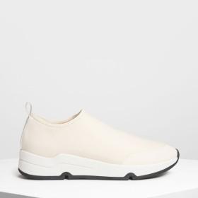 ライクラ スリッポンスニーカー / Lycra Slip On Sneakers (Cream)