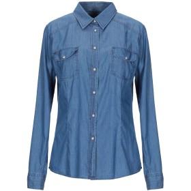 《セール開催中》CAMICETTASNOB レディース デニムシャツ ブルー 46 コットン 98% / ポリウレタン 2%