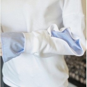 ma09250005  トレーナー レディース ワインカラー 長袖 袖デザイン トップス カットソー スウェット おしゃれ 可愛