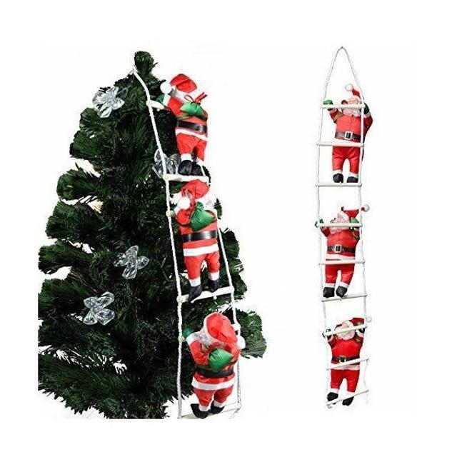 クリスマス 飾り はしごサンタクロース サンタはしご クリスマスツリー飾り サンタ人形はしご 三人105cm サンタクロース はしご はしごのサンタ