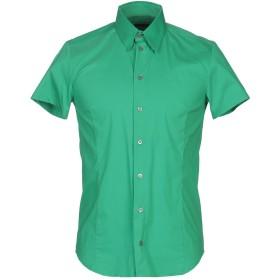 《期間限定セール開催中!》PATRIZIA PEPE メンズ シャツ グリーン 46 コットン 70% / ナイロン 27% / ポリウレタン 3%