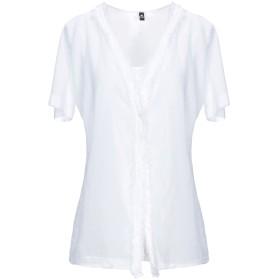 《セール開催中》EUROPEAN CULTURE レディース T シャツ ホワイト S コットン 97% / ポリウレタン 3%