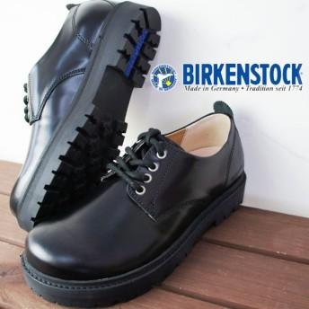 ビルケンシュトック BIRKENSTOCK クレイヴァル レディース 1010775 ナロー幅 ローカット レザーシューズ プレーントゥ ブラック