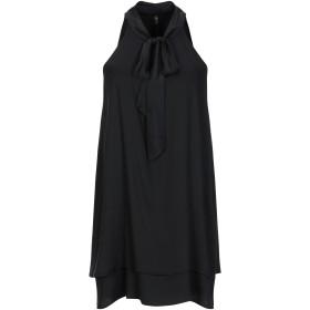 《期間限定セール開催中!》MANILA GRACE レディース ミニワンピース&ドレス ブラック 38 レーヨン 97% / ポリウレタン 3%