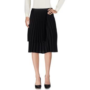 《セール開催中》NOIR KEI NINOMIYA レディース ひざ丈スカート ブラック L ポリエステル 100%