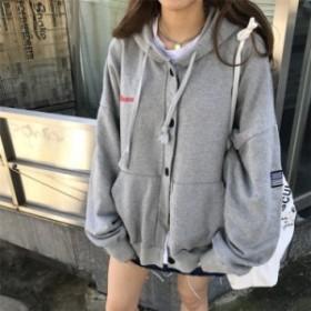 a09220009 レトロ感が可愛い☆フード付パーカー☆韓国 レディース ファッション おしゃれ 通販 トレンド
