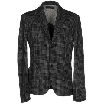 《セール開催中》DANIELE FIESOLI メンズ テーラードジャケット スチールグレー XL ウール 39% / レーヨン 33% / コットン 20% / ポリエステル 8%