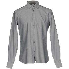 《期間限定 セール開催中》ETICHETTA 35 メンズ シャツ 鉛色 41 コットン 98% / ポリウレタン 2%