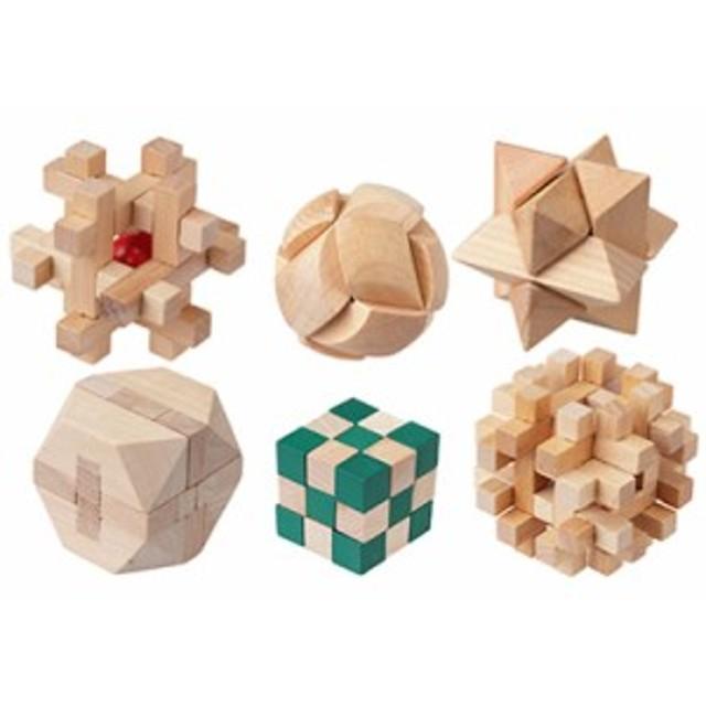 【送料無料】木製パズル6入りセット やわらか頭君 MO-P01 キヨラカ