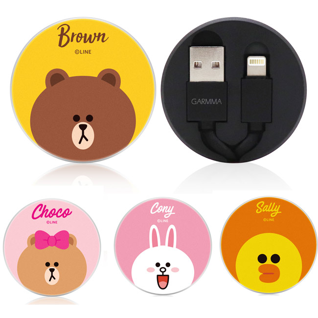 GARMMA LINE FRIENDS Lightning 8pin 伸縮式傳輸線