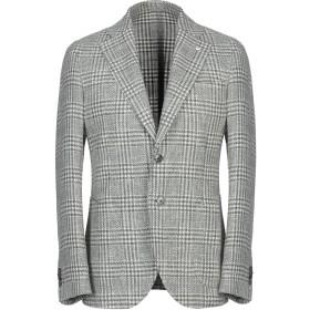《期間限定セール中》L.B.M. 1911 メンズ テーラードジャケット ミリタリーグリーン 54 コットン 60% / 麻 18% / アクリル 15% / ナイロン 7%