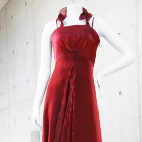 【姫かわいい】実は一番見られている演奏中の横姿が最高に美しいドレス(ワインレッド) 1-0202-2