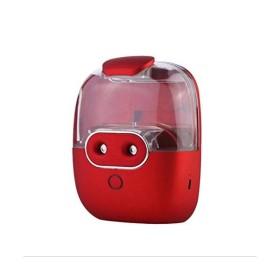 ピギーUSBナノ水フィラーミニ二重加湿器サクションカップコールドミスト充電式フック美容モイスチャライジングモイスチャー空気抗菌車ダブルホール,Red