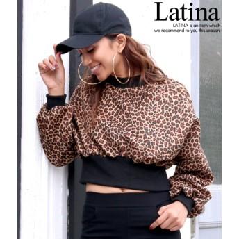 anap Latina アナップラティーナ レオパード柄ドルマンクロップドトップス