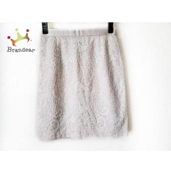 ジャスグリッティー JUSGLITTY スカート サイズ2 M レディース ベージュ×白 スペシャル特価 20190522【人気】