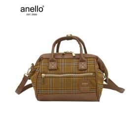 anello(アネロ)チェック口金2WAYミニショルダーバッグ ショルダーバッグ・斜め掛けバッグ