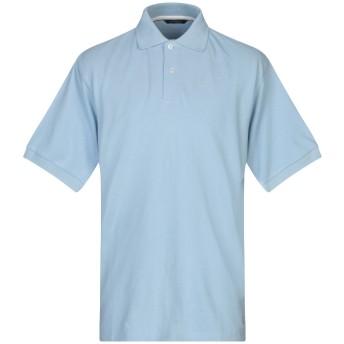 《セール開催中》KEN BARRELL メンズ ポロシャツ スカイブルー S コットン 100%