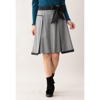 TO BE CHIC オックスツイードスカート その他 スカート,グレー