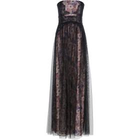 《送料無料》MIKAEL AGHAL レディース ロングワンピース&ドレス ブラック 2 ポリエステル 100%