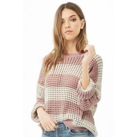 ニット・セーター - FOREVER 21 【WOMEN】 ボーダーモールニットオープンセーター