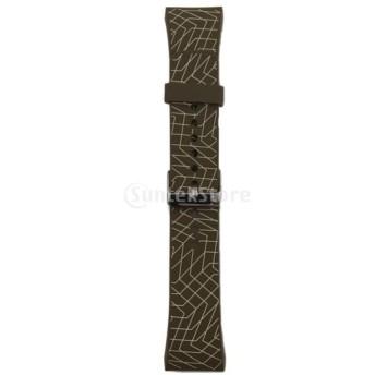全5色 交換用 耐久性 スポーツ シリコン 腕時計 バンド ストラップ Samsung Galaxy Gear S2 SM-R720適用 - ブラウン