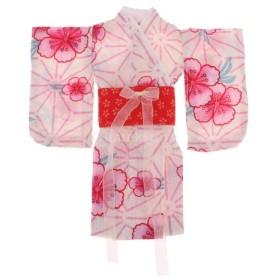 全2カラー 1/6スケール BJD SD AS DZ ドール人形に適する 着物 ドレス アクセサリー 布製 - 赤